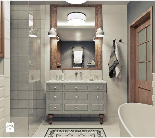 Aranżacje wnętrz - Łazienka: Łazienka - Średnia łazienka, styl vintage - 2k-architektura. Przeglądaj, dodawaj i zapisuj najlepsze zdjęcia, pomysły i inspiracje designerskie. W bazie mamy już prawie milion fotografii!