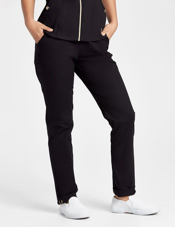 The Skinny Pant in Black is a contemporary addition to women's medical  scrub outfits. Shop Jaanuu for scrubs, lab coats and other medical apparel.