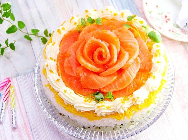 あぽも's dish photo ひな祭り 卒入学おめでとう  節約できて華やかな バラのケーキ寿司    フード   tomoni ともに    家族の暮らしを楽しむメディア | http://snapdish.co #SnapDish #レシピ #簡単料理 #桃の日(3月3日) #ひな祭り #お寿司