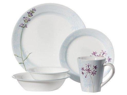 Complete 24pc Corelle Summer Meadow Dinnerware Set Soft
