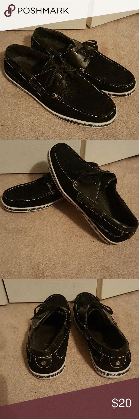 Men's Black Boat Shoes Black Ultra Suede Boat Shoes Shoes Boat Shoes