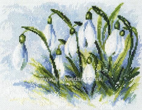Buy Early Snowdrops Cross Stitch Kit Online at www.sewandso.co.uk