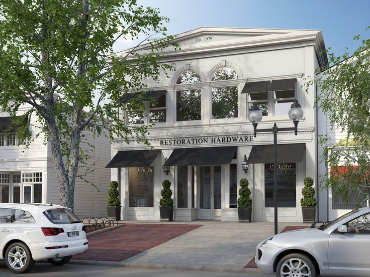 Restoration hardware store 3d architecture rendering for Restoration hardware online shopping