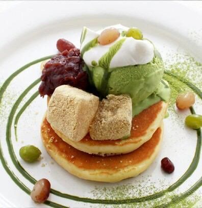 pancake, with green tea powder (252) Twitter
