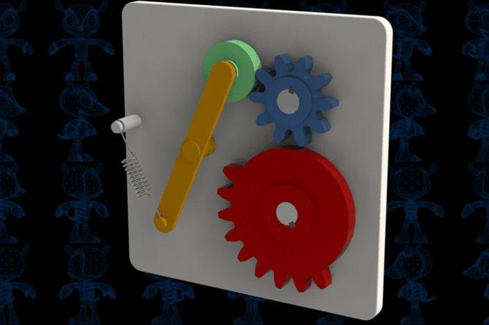 Intermittent Mutilated Gear Mechanism