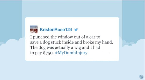KristenRose124, who suffered a really dumb injury: