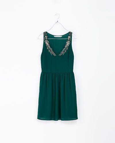 Image 5 of V-NECK DRESS from Zara