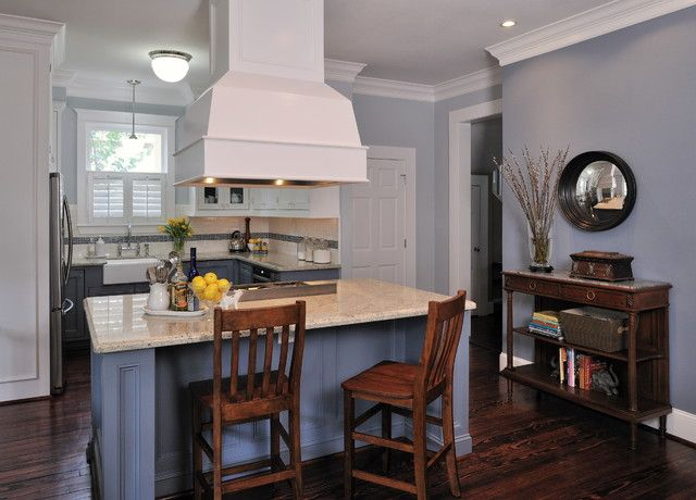Paint the walls of your traditional kitchen in Gray Screen (SW 7071