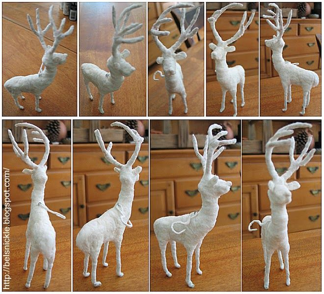 To hand sculpt a cotton batting animal, such as this handsome little buck below, may seem a bit too ambitious at first. However, if y...