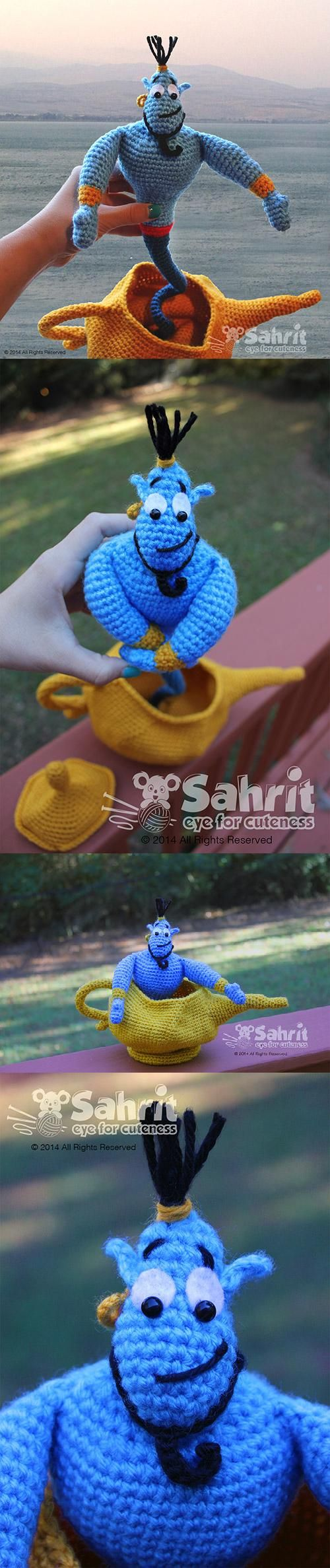 Found at Amigurumipatterns.net Genie and the Lamp by Sahrit  $6.99