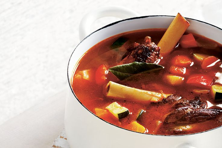 This delicious, flavourful soup is best served with a side of couscous.