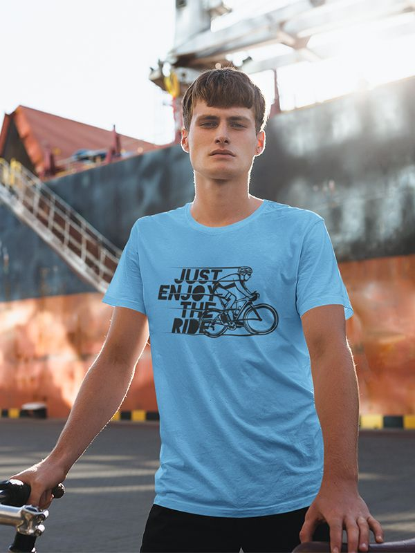 Just Enjoy The Ride Travel T Shirt In 2020 Mens Tshirts Couple T Shirt Travel Tees