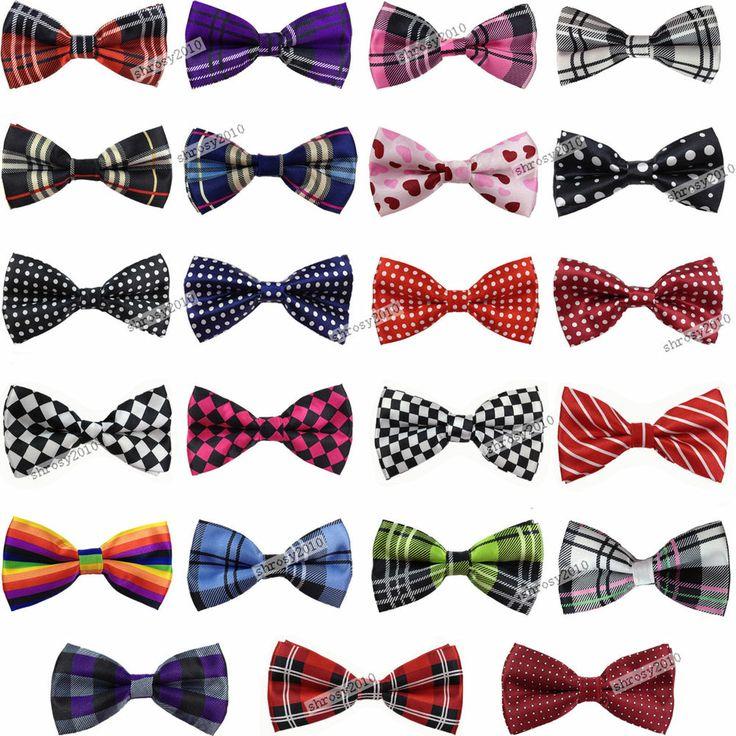 Fashion Pattern Bow Tie Casual Formal Party Pre-tied Bowtie Men's Neck Ties W032