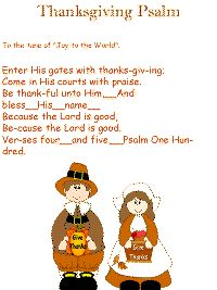 Thankgiving Psalm color poster