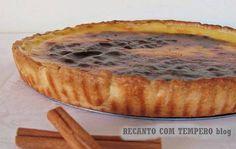 Tarte de nata {com massa quebrada} | Sobremesas de Portugal