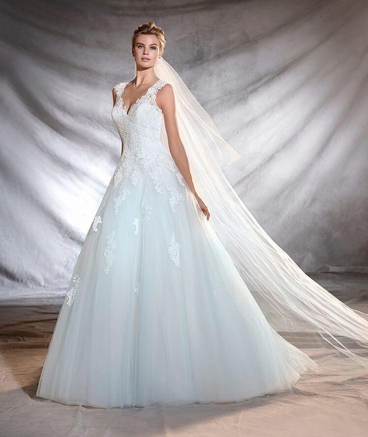 OLEGARIA - Robe de mariée à décolleté en V et taille basse