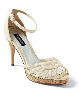 WHBM - Neutral Strappy Heel. And I don't even *like* cork, but this is so pretty.