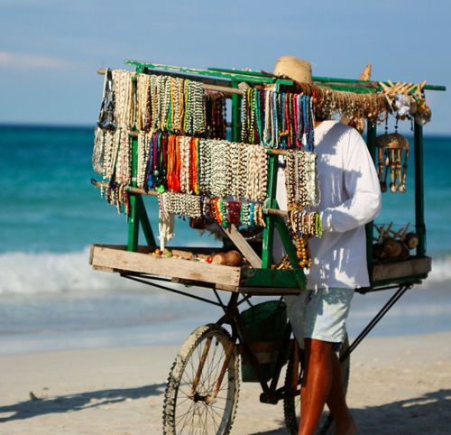 beads on the beach! you know you're in the carribean when the vendors come out.