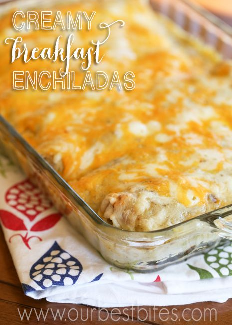 These look great to take for a work foodie day or even baby/bridal shower brunch food.  Or just on Saturdays.  I love enchiladas and think I will like breakfast enchiladas even more!  Maybe without the meat but definitely with the rest of the ingredients.