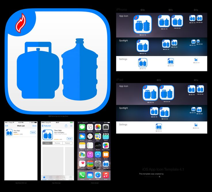 """Design a """"Water and Propane Gas Delivery"""" app Icon by I am Carlo"""