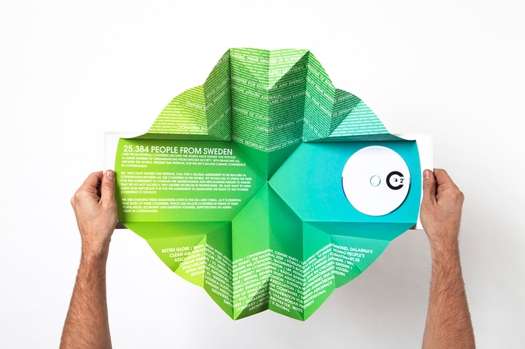 Climate Change folded print http://between.se/work/centerpartiet-2-degrees-a-climate-campaign/
