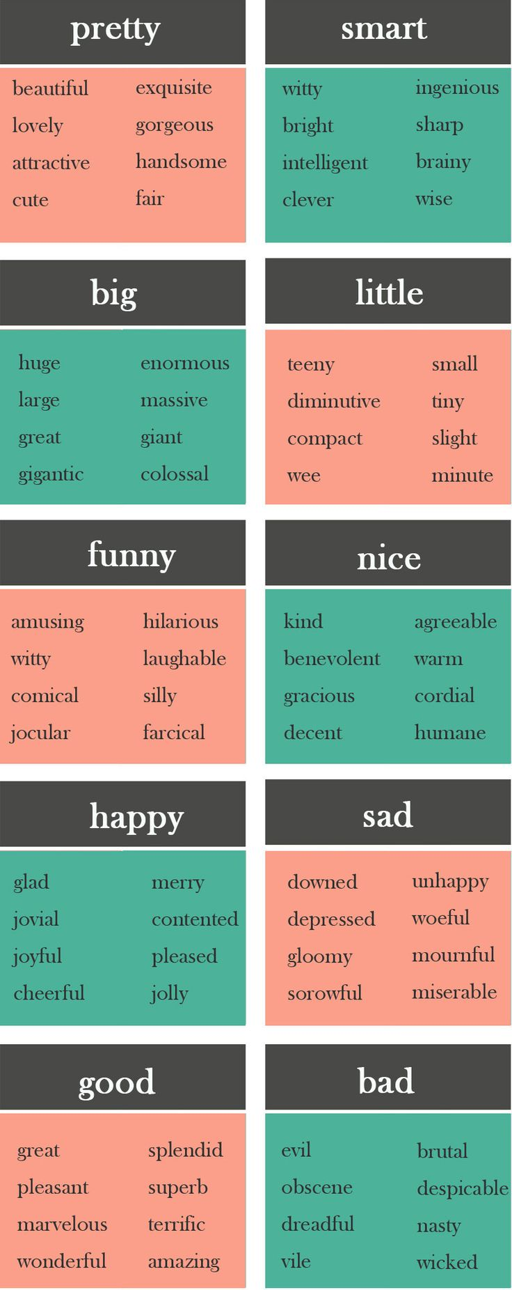 10 Boring Words and What to Use Instead - learn English,words,synonyms,english