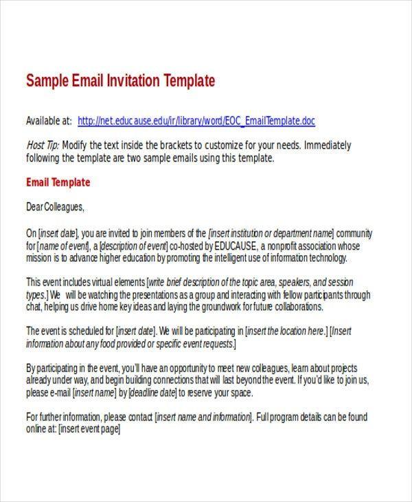 Business E Invitation Templates 9 Templates Example Templates Example Templat Undangan
