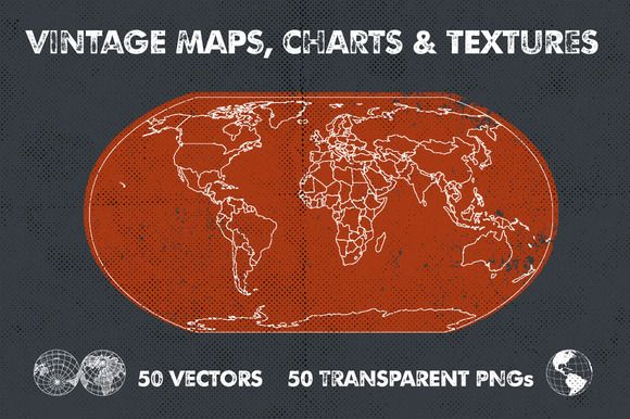 Vintage Maps, Charts & Textures by Offset on Creative Market