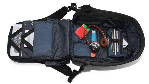 Рюкзак Bobby: внутреннее устройство