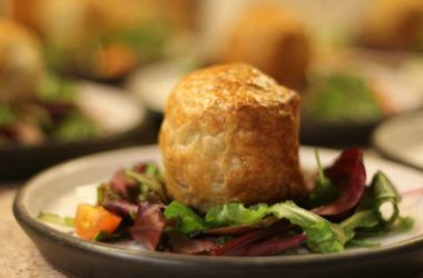 Black Pudding & Goats Cheese Parcels with a Red Onion Marmalade