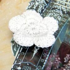 20x Handmade Spring Flower Crochet knitting Applique Sewing Trim Craft 5 Petals