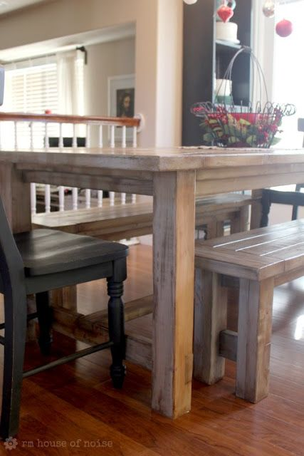 WANT--diy Kitchen Table... table, benches, and chairs made by hand just under $200