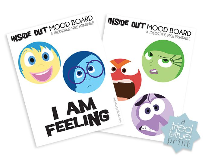 Inside Out Mood Board- These are cute!