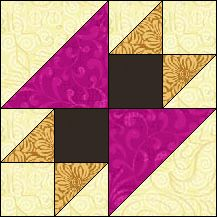 Block of Day for January 04, 2016 - Anvil strip piecing The pattern may be downloaded until:Sunday, January 31, 2016.