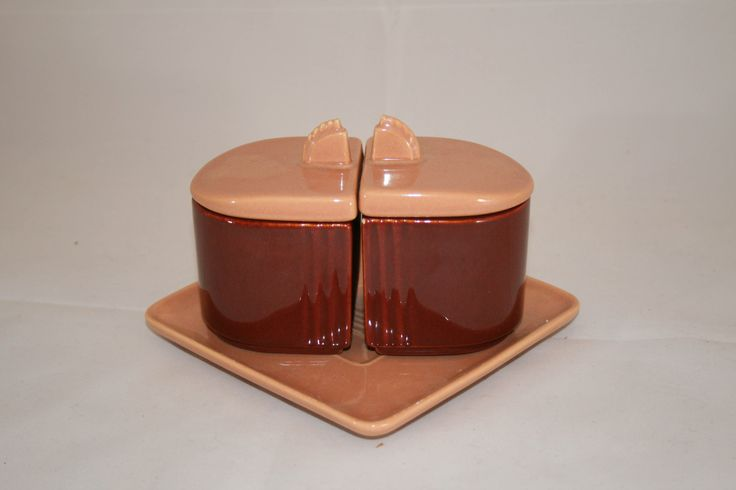 Vintage Franciscan Ware Condiment Set with Tray