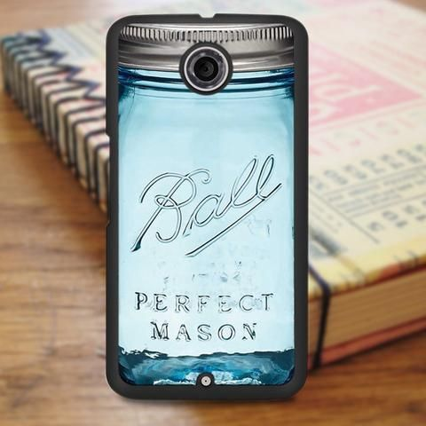 Blue Mason Jar Nexus 6 Case