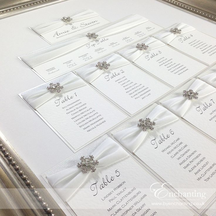 handmade wedding cards ireland%0A The Elsa Collection  Framed Table Plan Seating Chart   Featuring white  velvet ribbon  white  Handmade Wedding InvitationsWedding
