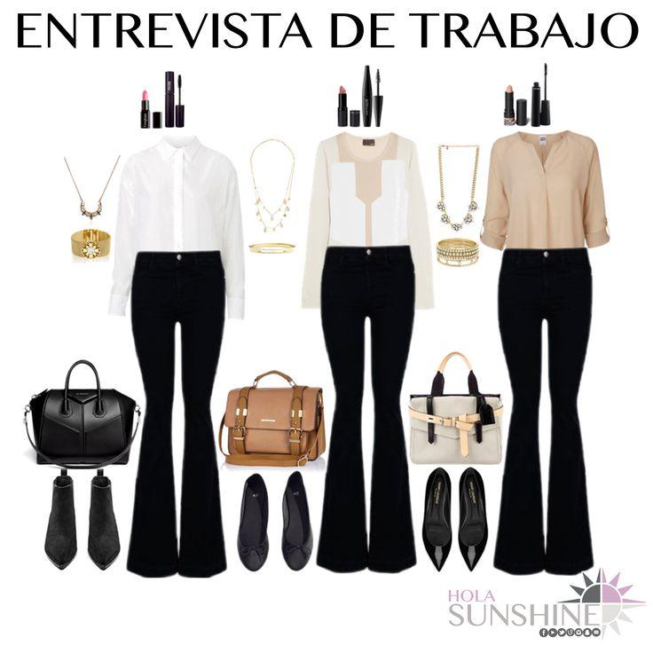 Outfits para entrevista de trabajo panatlones negros for Que hay en una oficina de trabajo