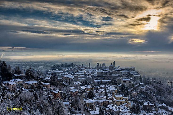 Un manto bianco su Bergamo Alta...
