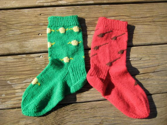 Dobby socks - my own design. For Harry Potter people everywhere.