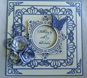 Todays card is made up from the beautiful Dainty Lace Edger die and the Happily Ever After set The finished card is 8 x8 so one ...