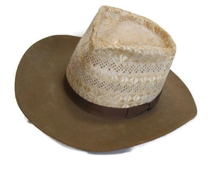 Texas Hatters Cowboy Hat Half Breed Burt 6 3 4 Custom Made Calidad USA   d034c64ee87c