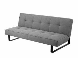 Sofa - CustomForm - Sleek 3os. stalowy - rozkładana