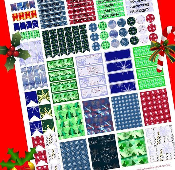 christmas planner stickers printables organizer di LaSoffittaDiSte