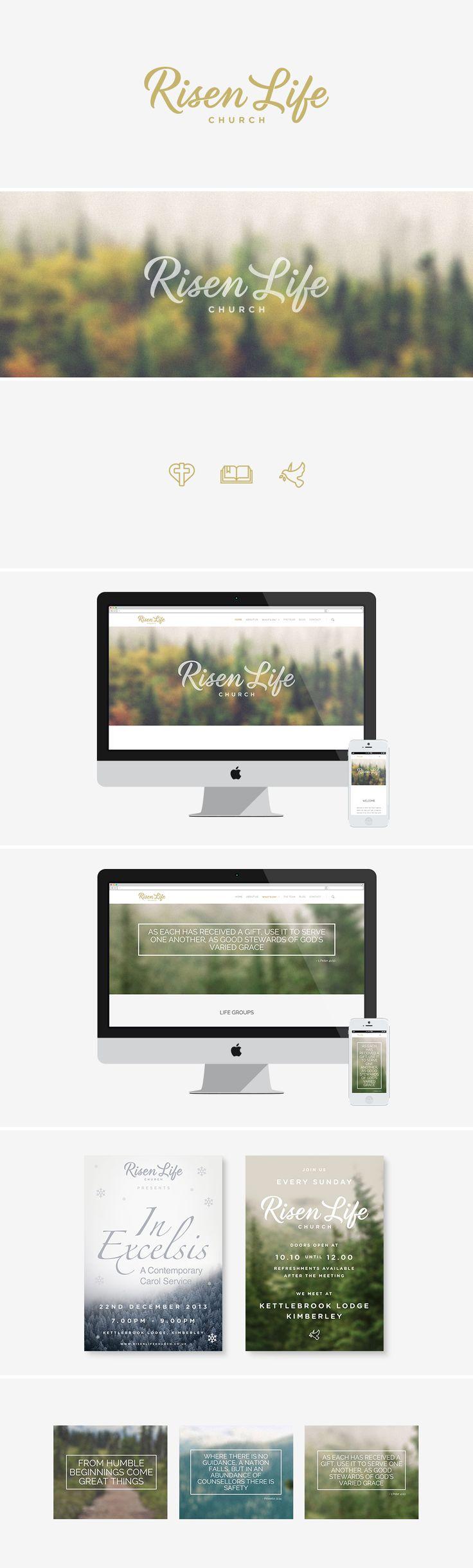 Modern church branding - parallax website