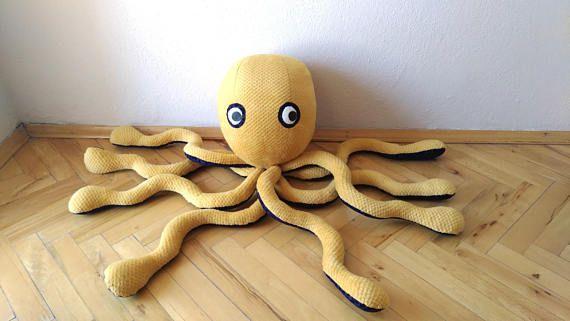 Yellow octopus Stuffed animal Stuffed toy Soft kids toy
