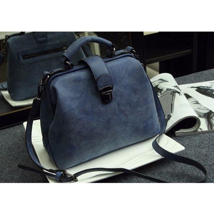 Vintage Schulter Crossbody Tasche Handtasche Blau