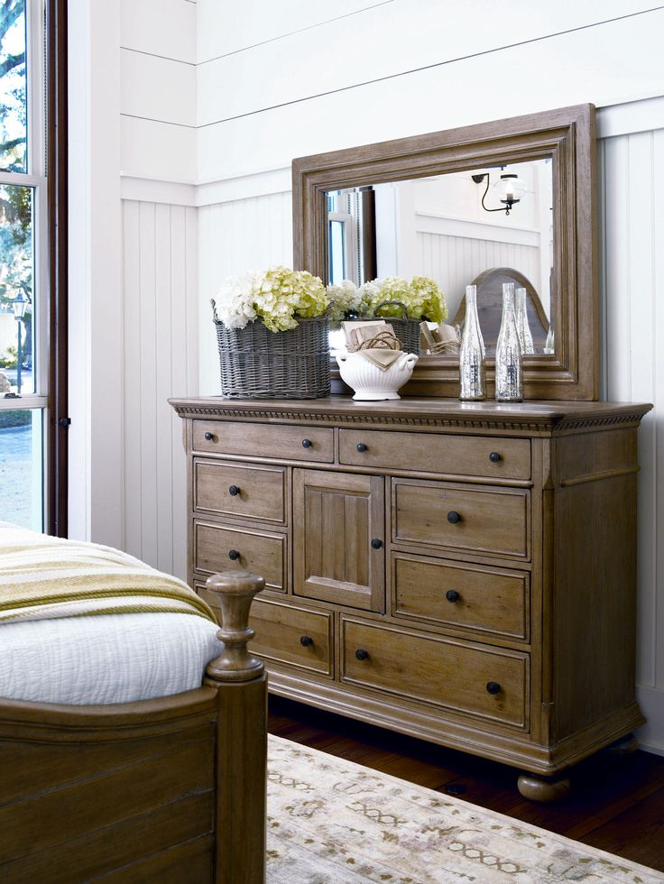 down home collection down home drawer dresser and landscape mirror in an oatmeal finish clearance