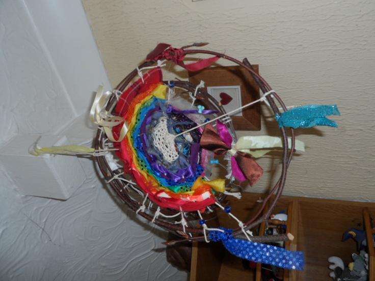 Rainbow weaving mobile