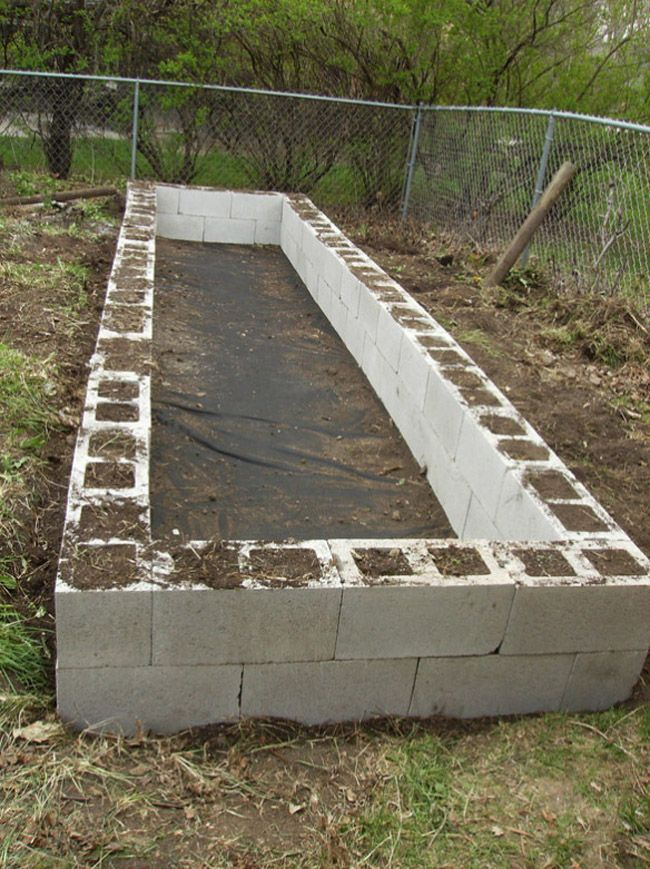 25 Best Ideas About Raised Garden Beds Cinder Blocks On